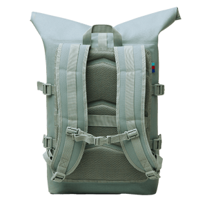 sustainable gifts Got Bag Upcycled plastic rolltop backpack - reef