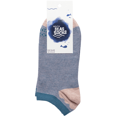 sustainable gifts Healthy Seas Socks Upcycled fishing nets sneaker socks - Caviar