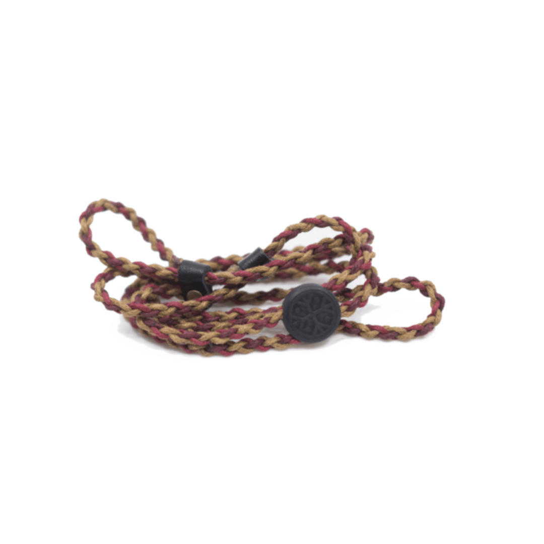 sustainable gifts Karun Upcycled fishing nets glasses strap - macramé tricolor