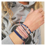 sustainable gifts MBRC The Ocean Upcycled PET bracelet - Cobra blue depths