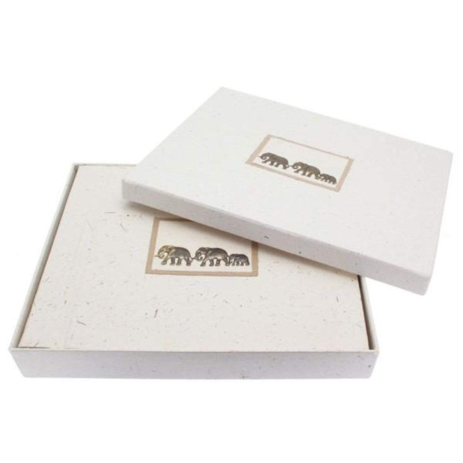 Large photo album in sustainable certified elephant dung paper in box