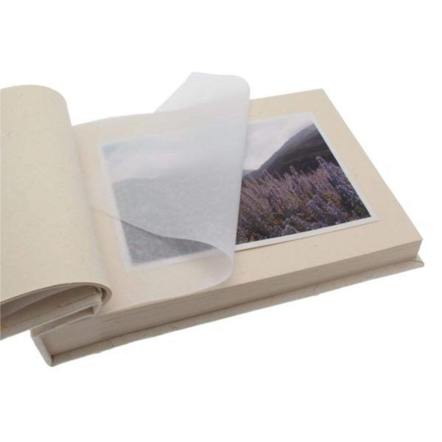 Small photo album in sustainable certified elephant dung paper detail