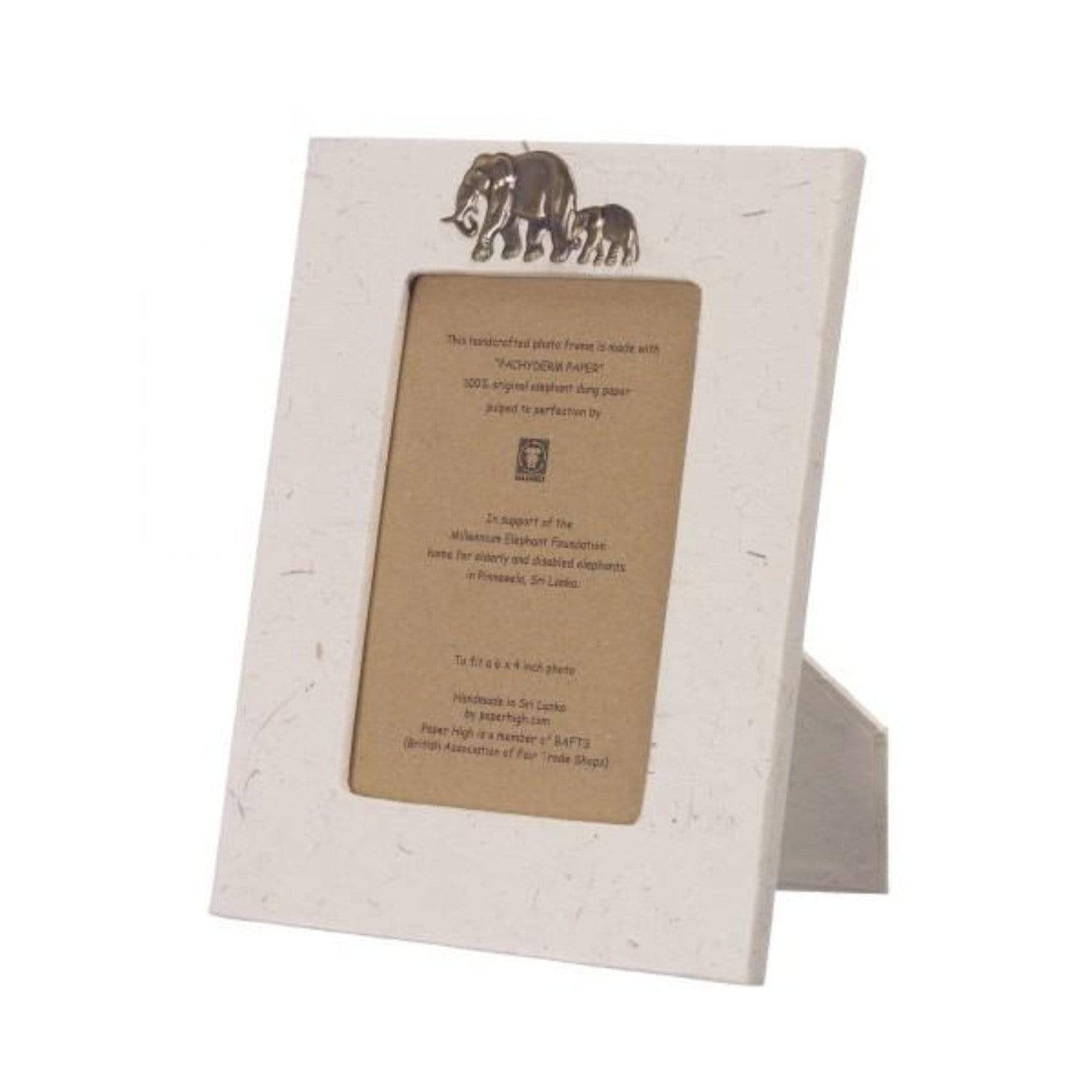 Photo frame in sustainable certified elephant dung paper