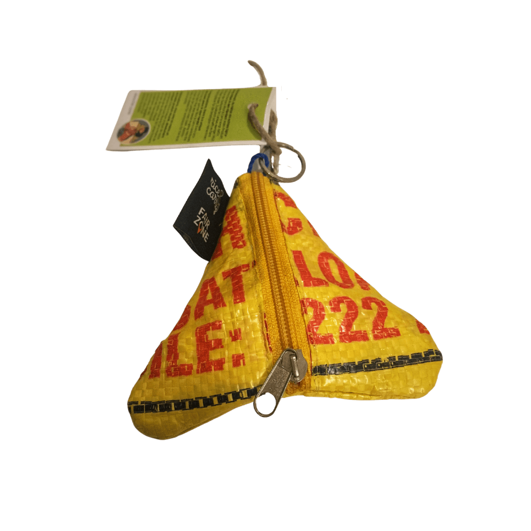 sustainable gifts Rice & Carry Upcycled rice sacks money bag