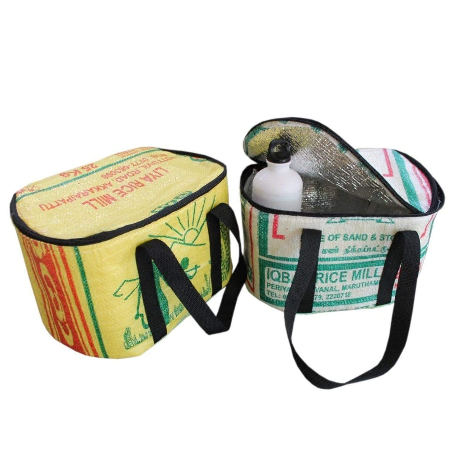 Fair and eco friendly cooler bag Rice & Carry made of up-cycled rice bags