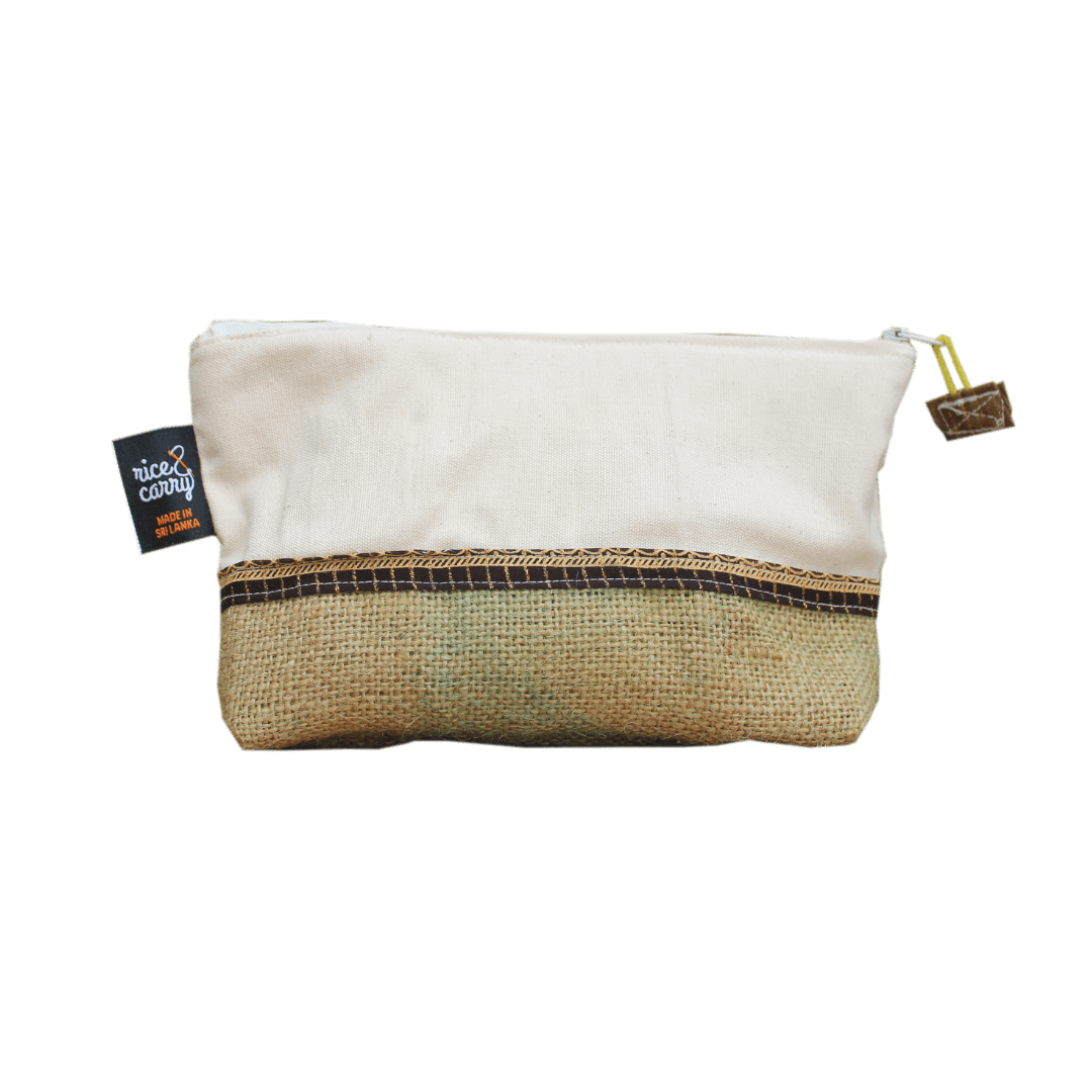 sustainable gifts Rice & Carry Upcycled spice bags jute pouch