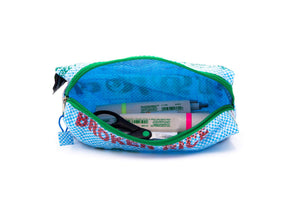 sustainable gifts Rice & Carry Upcycled rice sacks pencil case open