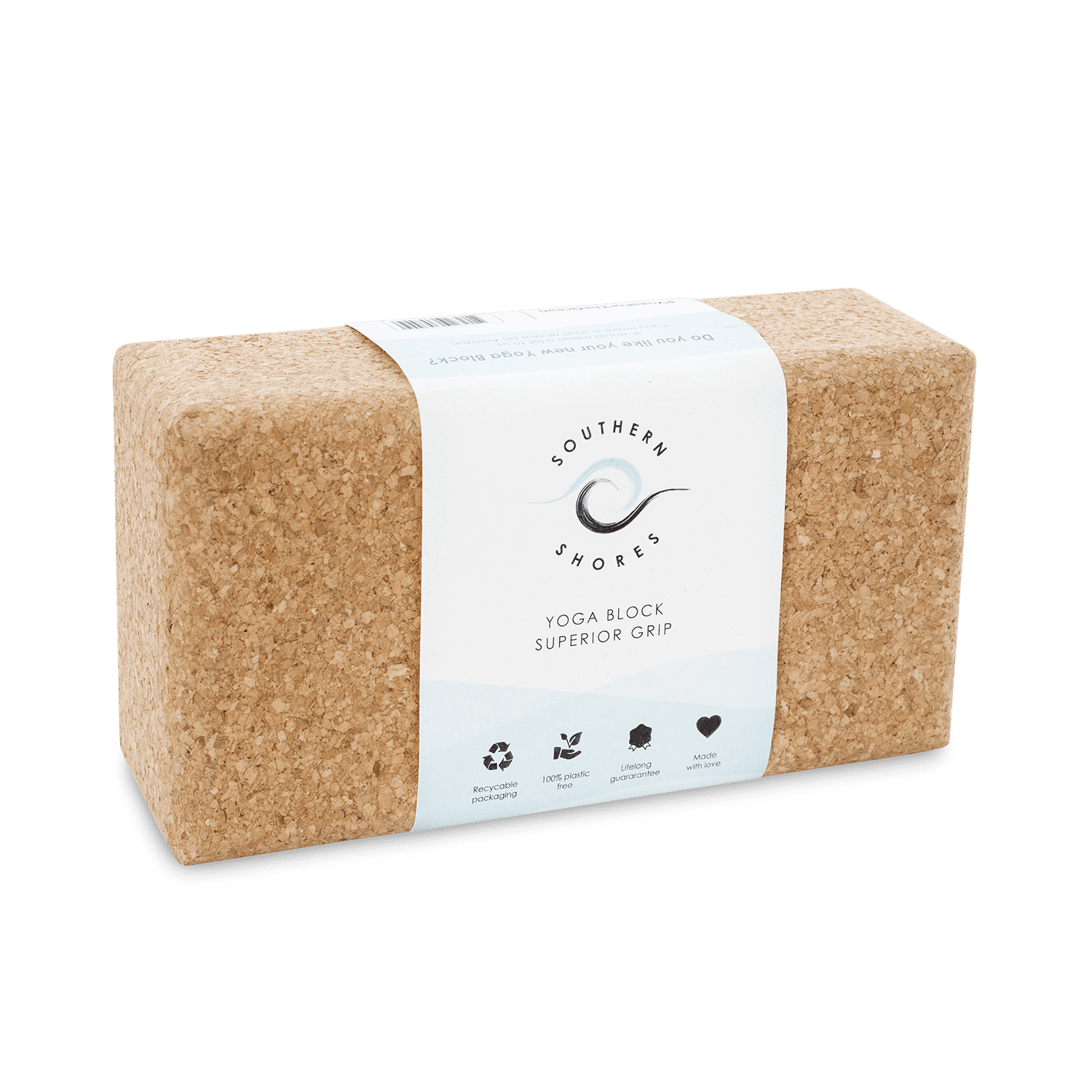 sustainable gifts Southern Shores Natural cork yoga block