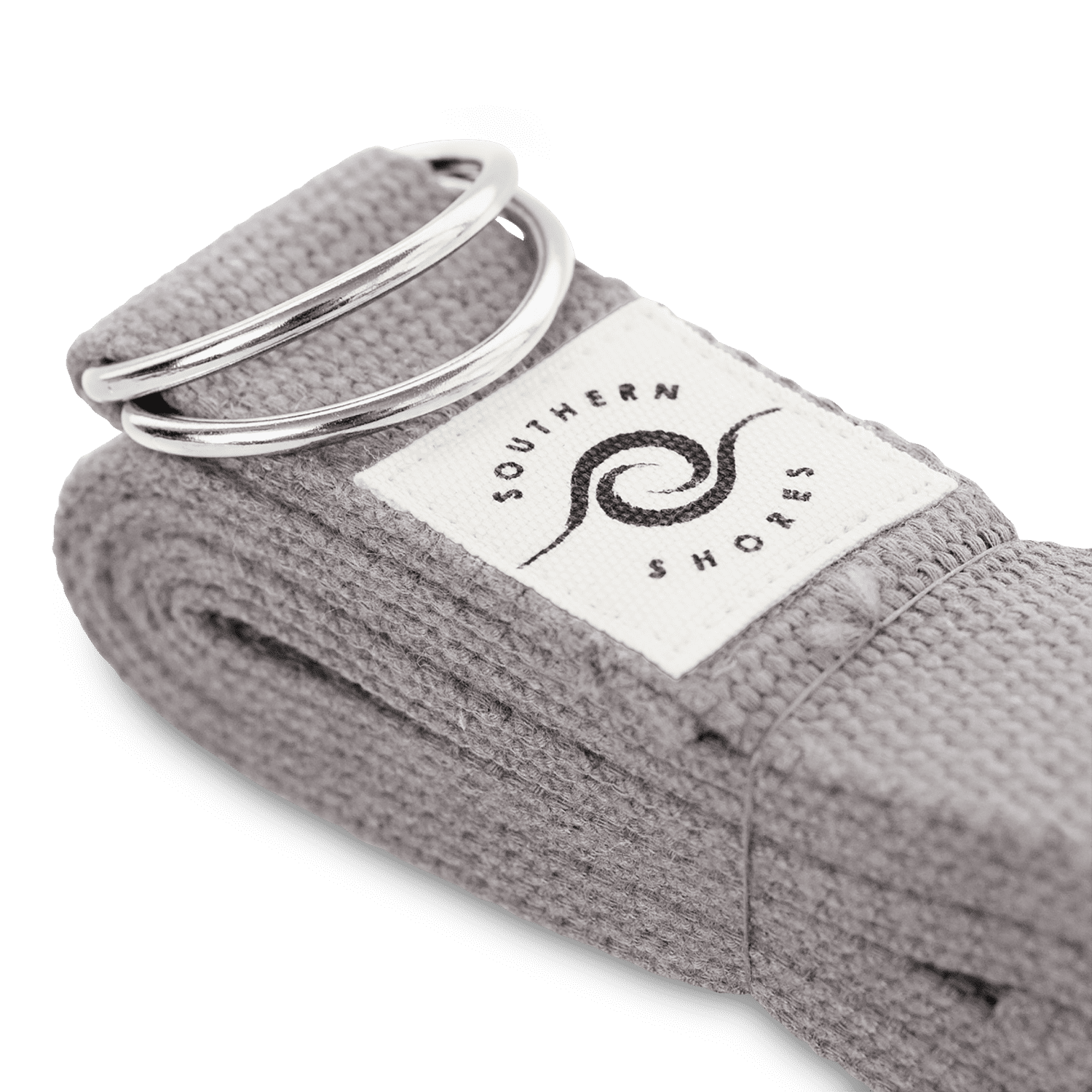 sustainable gifts Southern Shores Sustainable cotton yoga belt grey