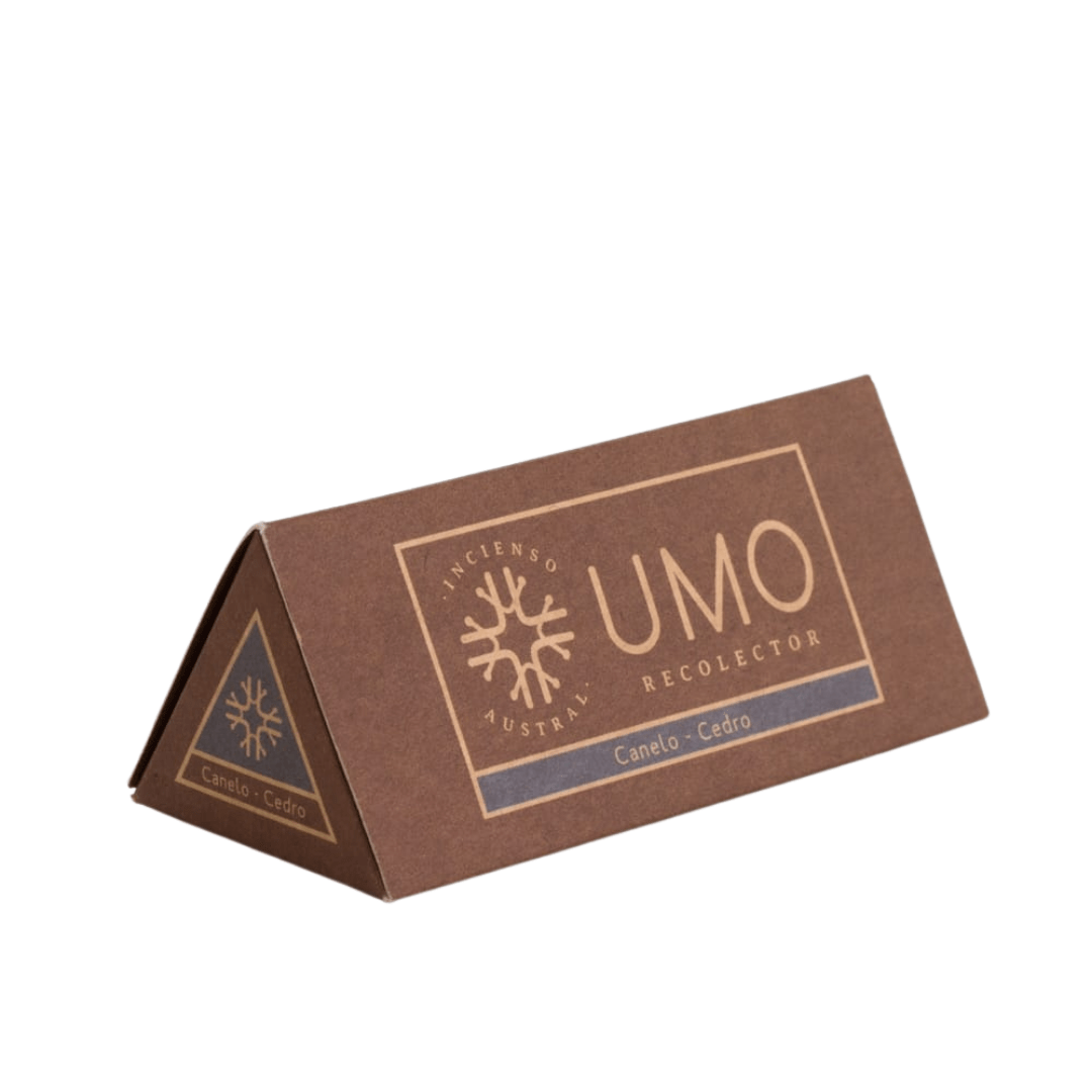 sustainable gifts Umo Recolector Sustainable natural incense - canelo and cedar (box of 6)