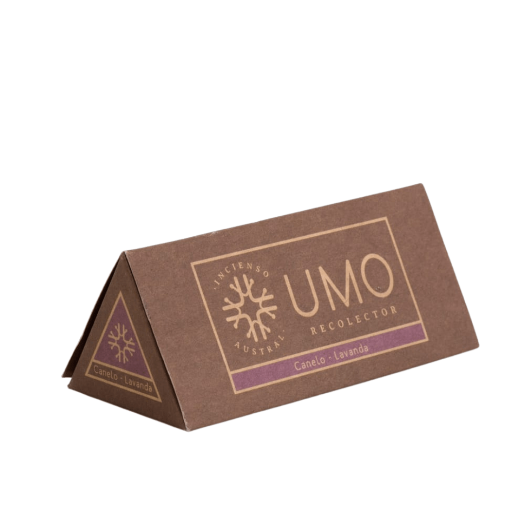 sustainable gifts Umo Recolector Sustainable natural incense - canelo and lavender (box of 6)