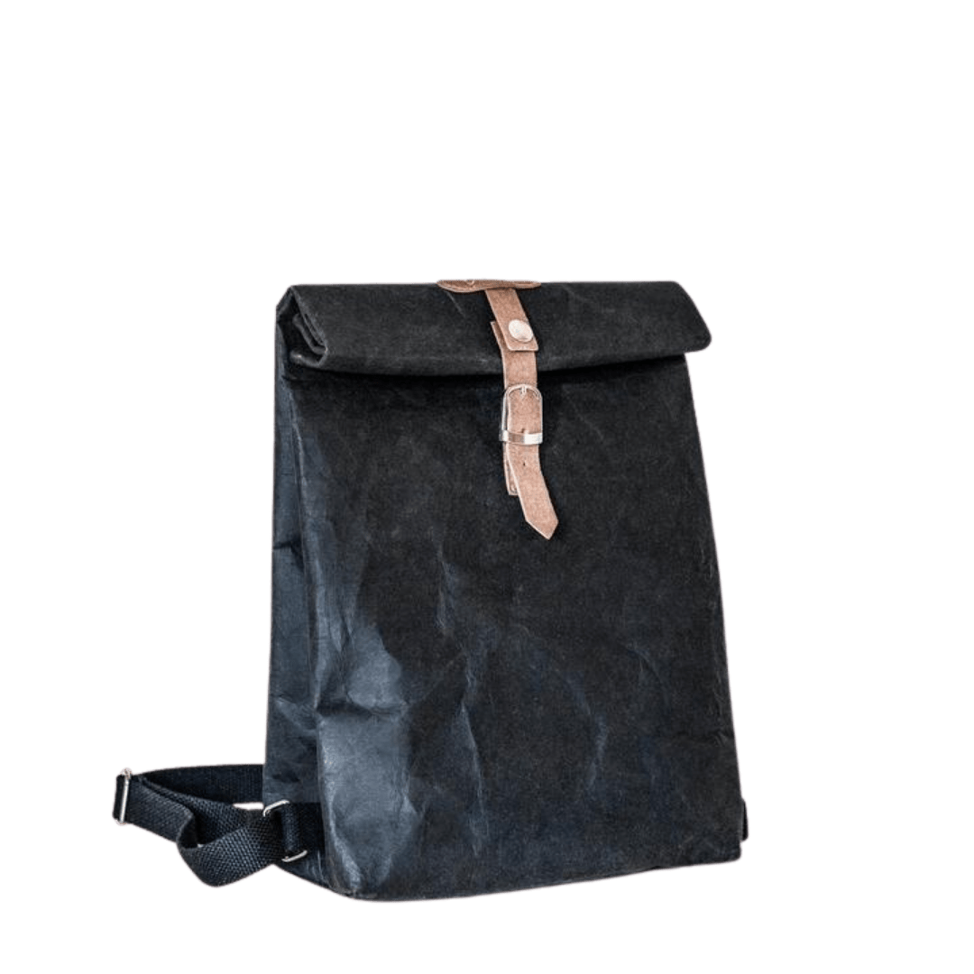 Wakecup black rucksack sustainable and vegan