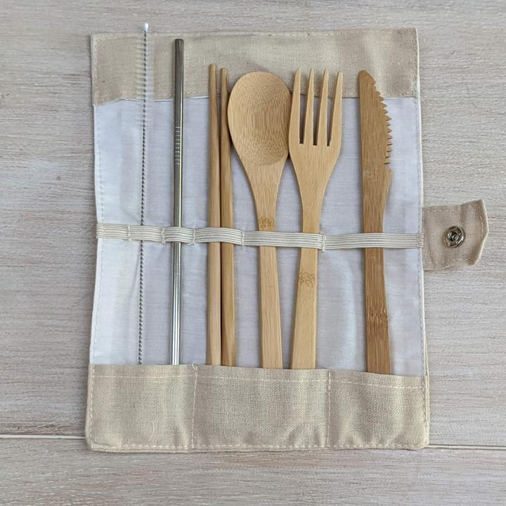 sustainable gifts WAKECup Sustainable bamboo cutlery set