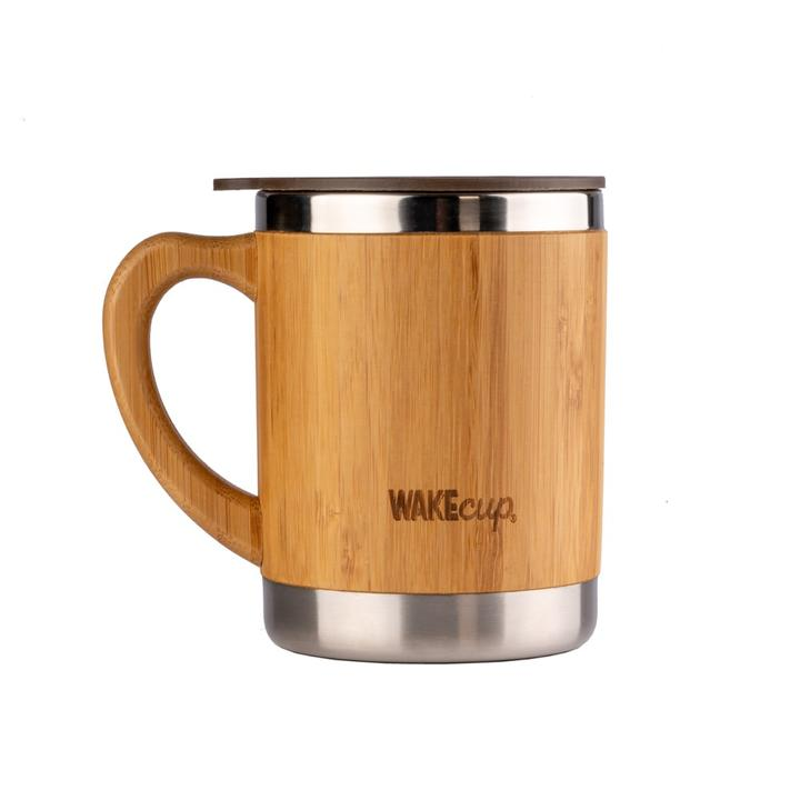 Wakecup travel mug in sustainable organic bamboo