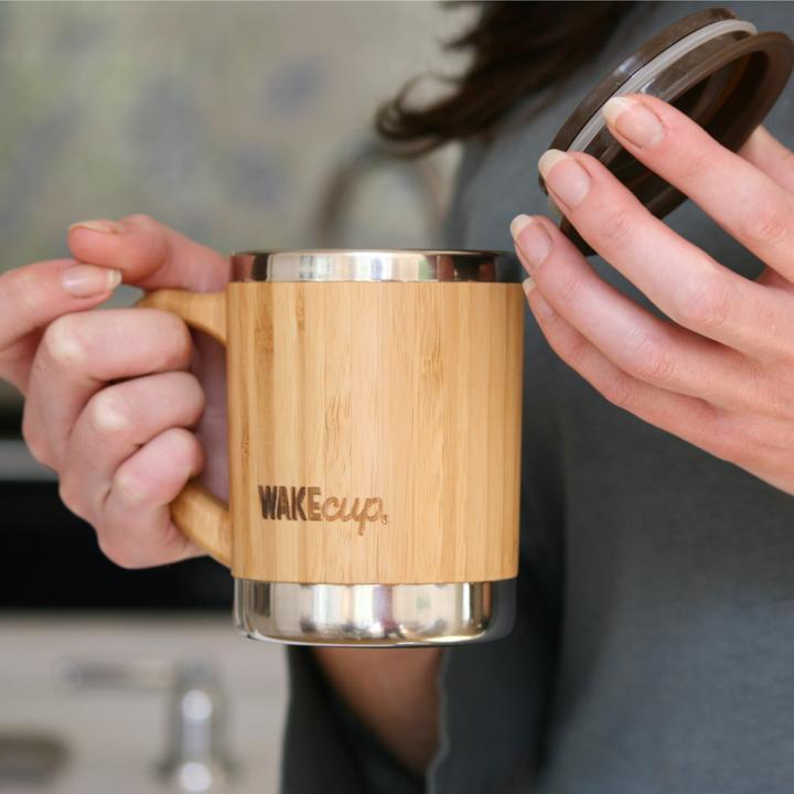 sustainable gifts WAKECup Sustainable bamboo travel mug