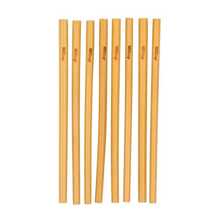 Wakeup set of 8 sustainably sourced and organic bamboo straws
