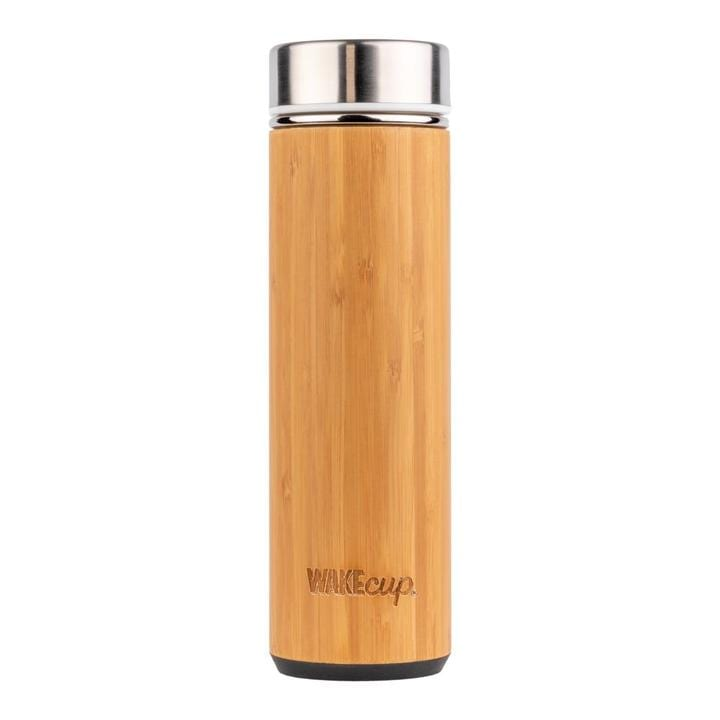 Thermos in sustainable organic bamboo with tea infuser