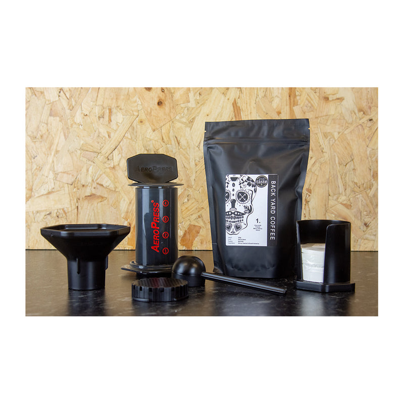 Home Coffee Culture -  For all your home coffee essentials - Aero Press - Free bag of Back Yard Coffee with every aero press purchase