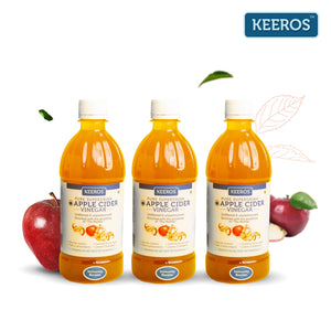 Load image into Gallery viewer, Keeros Apple Cider Vinegar with Mother Vinegar - 500 ml