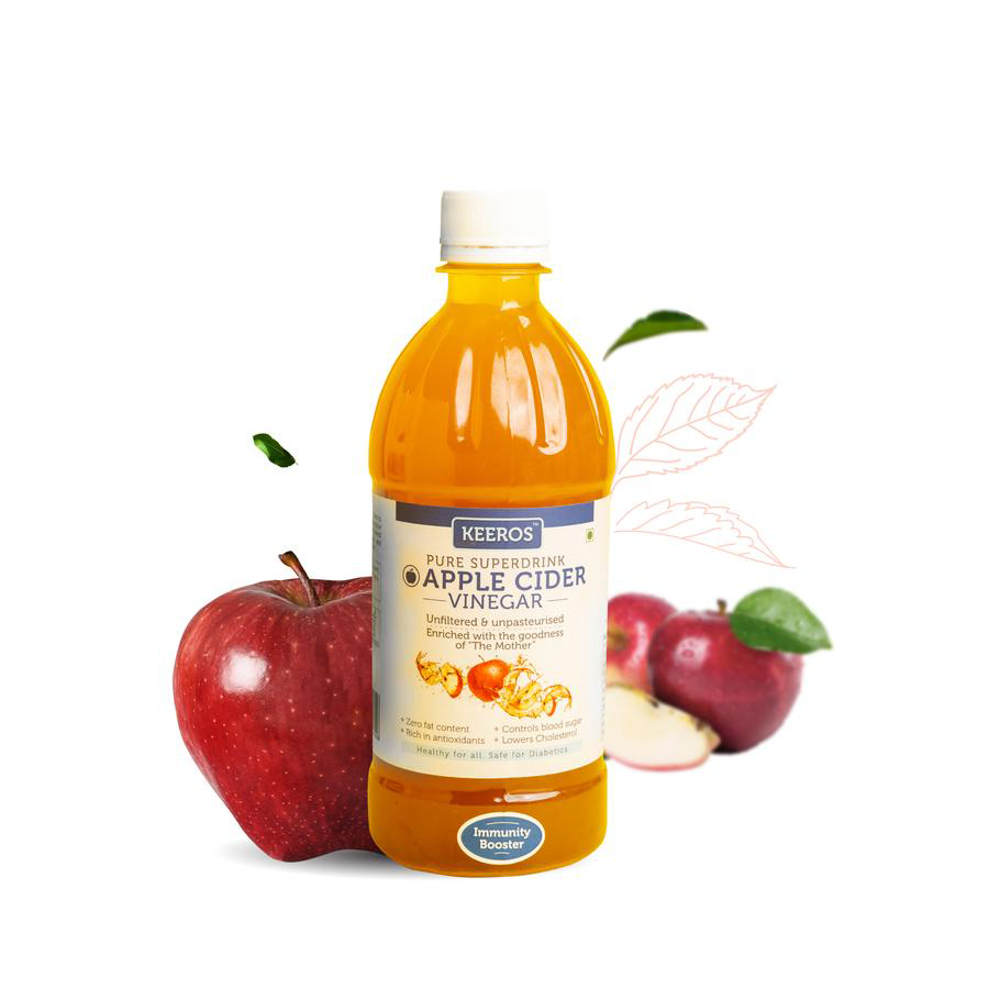 Keeros Apple Cider Vinegar with Mother Vinegar - 500 ml