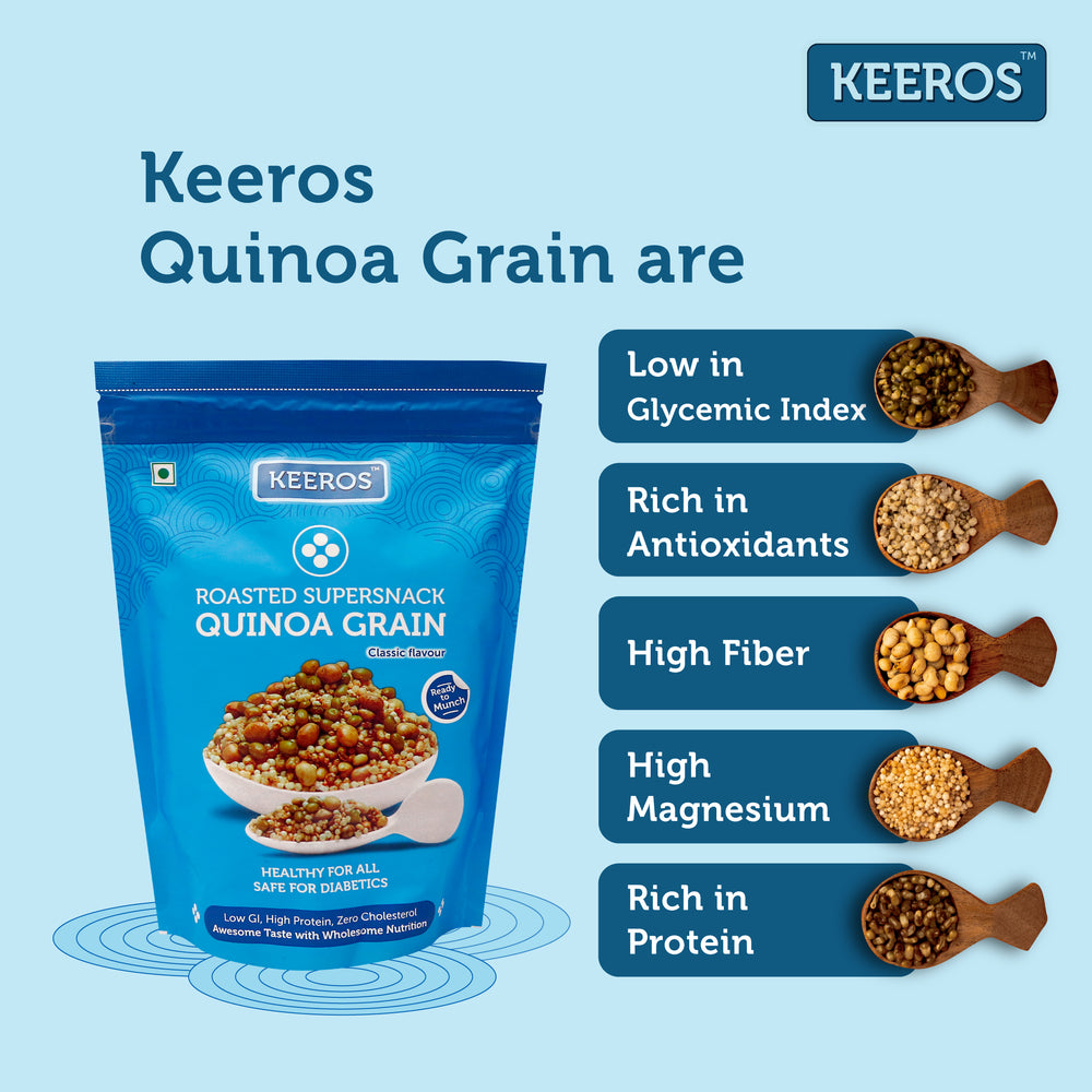 Load image into Gallery viewer, Keeros Quinoa Grain Healthy Super Snack
