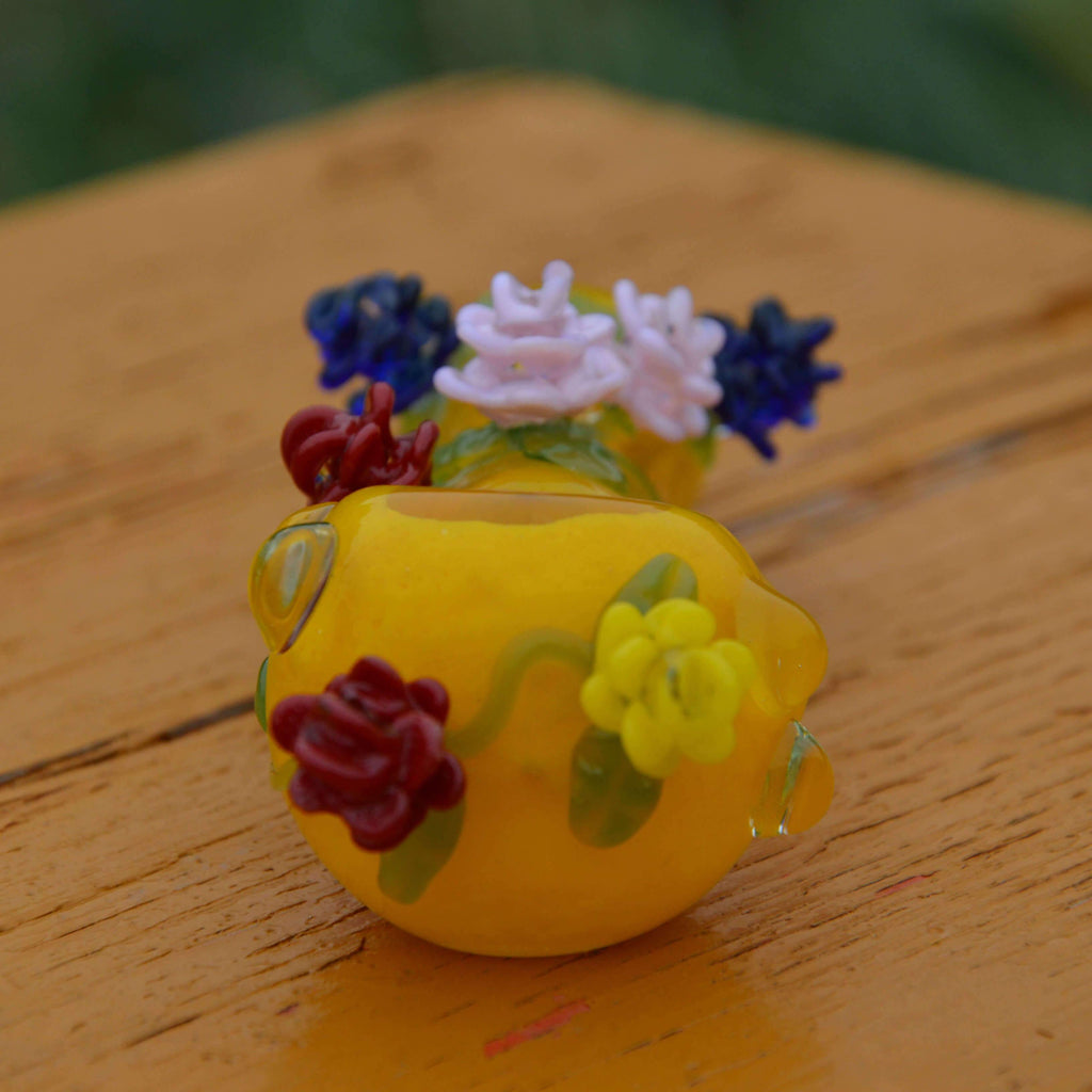 HAND PIPE WITH FLOWER| CALIBEAR| US WAREHOUSE Spoon Pipe Calibear