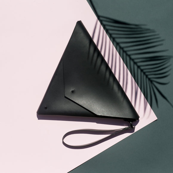 Triangle Clutch Nero - Public Store Australian Independent & Emerging Fashion Art Design