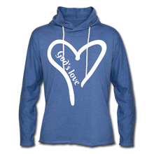 Load image into Gallery viewer, GODS LOVE Unisex Lightweight Terry Hoodie - heather Blue