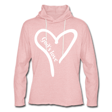 Load image into Gallery viewer, GODS LOVE Unisex Lightweight Terry Hoodie - cream heather pink