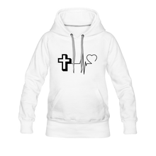 Load image into Gallery viewer, CHRIST PULSE Women's Premium Hoodie - white
