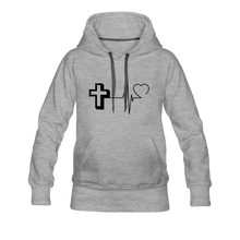 Load image into Gallery viewer, CHRIST PULSE Women's Premium Hoodie - heather gray