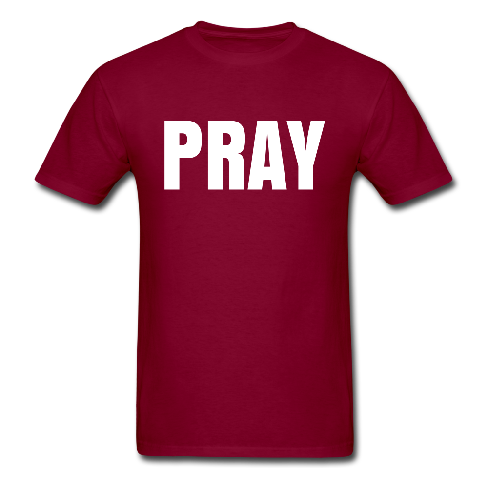 PRAY T-shirt - burgundy