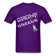 Load image into Gallery viewer, WORSHIP WARRIOR T-shirt - purple