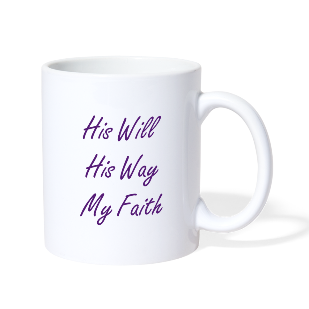 HIS WILL Coffee/Tea Mug - white
