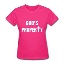 Load image into Gallery viewer, GODS PROPERTY CROSS Women's T-Shirt - fuchsia