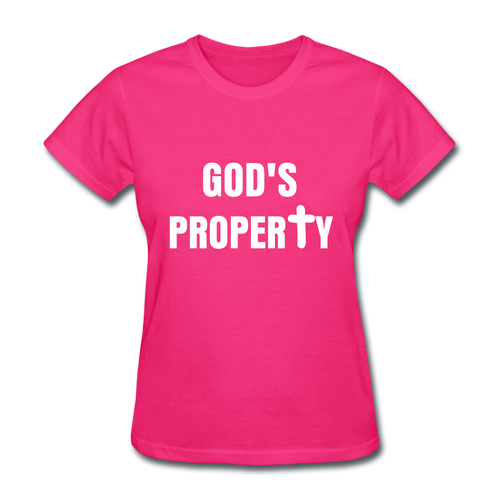 GODS PROPERTY CROSS Women's T-Shirt - fuchsia
