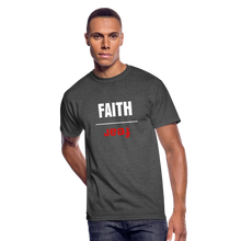 Load image into Gallery viewer, FAITH OVER FEAR Men's 50/50 T-Shirt - heather black