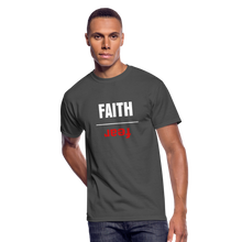 Load image into Gallery viewer, FAITH OVER FEAR Men's 50/50 T-Shirt - charcoal