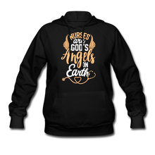 Load image into Gallery viewer, NURSES ARE GOD'S ANGELS Women's Hoodie - black