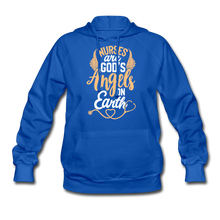 Load image into Gallery viewer, NURSES ARE GOD'S ANGELS Women's Hoodie - royal blue