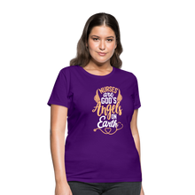 Load image into Gallery viewer, NURSES ARE GOD'S ANGELS ON EARTH Women's T-Shirt - purple