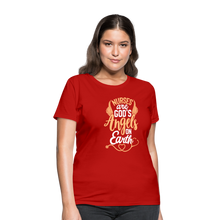 Load image into Gallery viewer, NURSES ARE GOD'S ANGELS ON EARTH Women's T-Shirt - red