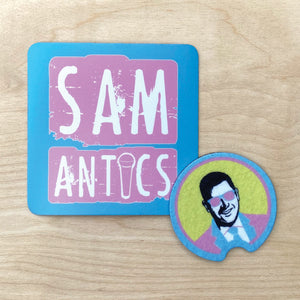 Samantics/Moe Magnet and Cup Holder Coaster