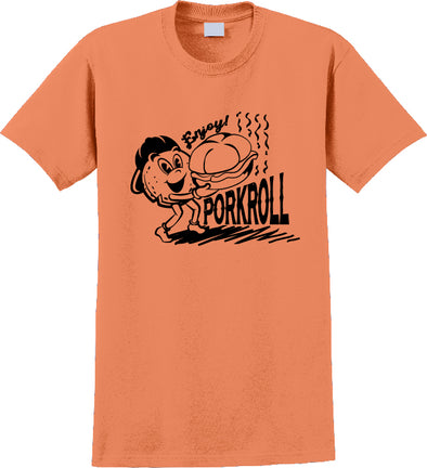 Adult Enjoy Pork Roll Tangerine t-shirt