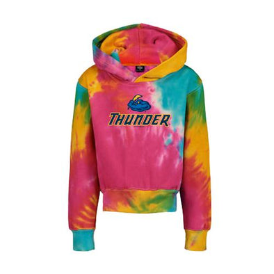 Trenton Thunder Youth Classic Fleece Tie Dye Hood - Rainbow
