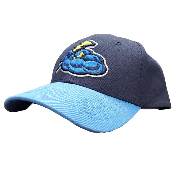 Trenton Thunder Youth Cotton Adjustable Cap - Navy/Sky Blue