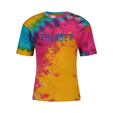Trenton Thunder Adult Thunder Tye-Dye State of NJ t-shirt
