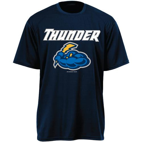 Trenton Thunder Youth Thunder Navy Cloud Logo Drifit tee