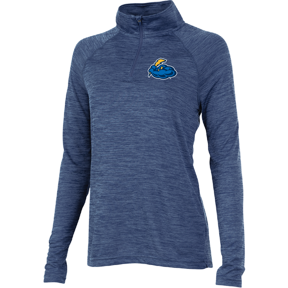 Women's Navy Space Dye Performance Pullover