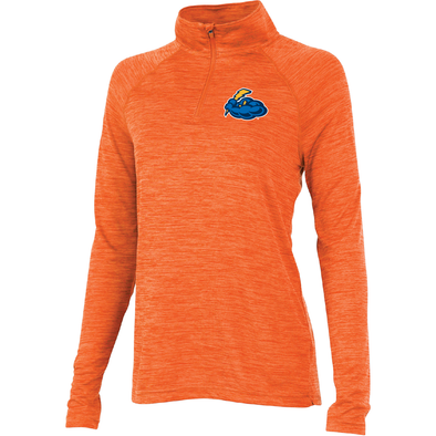 Women's Orange Space Dye Performance Pullover